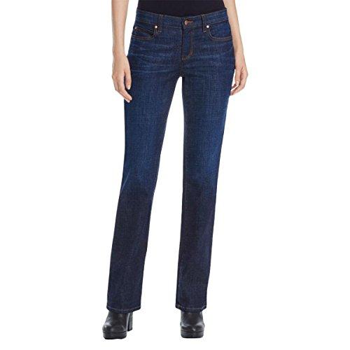 Eileen Fisher Womens Petites Dark Stretch Bootcut Jeans Denim 10P by Eileen Fisher