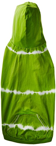East Side Collection ZM044 20 70 Tie Dye Hoodie for Dogs, Large, Parrot Green