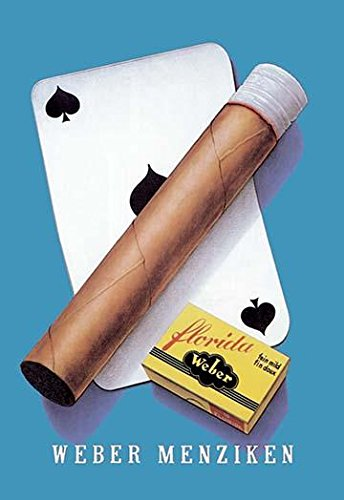 24 x 36 A very simple vitage cigar ad showing a playing card a cigar and a pack of matches Poster Print by Niklaus Stoecklin
