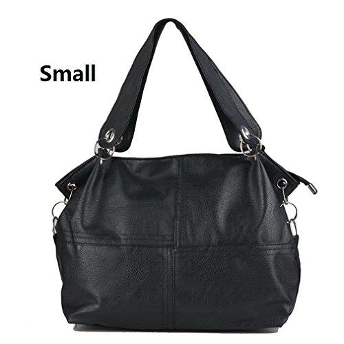 Handbag Women Special Vintage Small Leather Bags PU Bag Crossbody Splice Grafting Offer Messenger Bags Shoulder black Women qww4pT