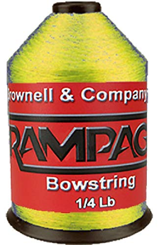 (Brownell & Rampage Bowstring Material 1/4# Flo Yellow)