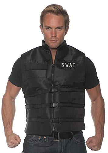 Underwraps Men's SWAT Costume Vest, Black, One Size -