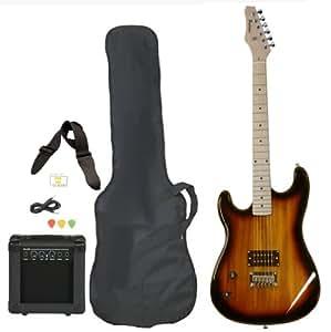 left handed beginner electric guitar package with amp case picks strap starter value. Black Bedroom Furniture Sets. Home Design Ideas