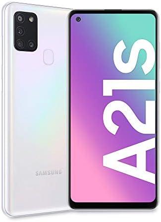 Samsung Galaxy A21s, Smartphone, Display 6.5″ HD+, 4 Fotocamere Posteriori, 32 GB Espandibili, RAM 3 GB, Batteria 5000 mAh, 4G, Dual Sim, Android 10, 192 g, [Versione Italiana], White
