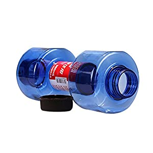 Elegari Dumbbell Cup Blue Fitness Plastic Equipment Kettle Sealed Leakproof 550ml Sport Water Bottle