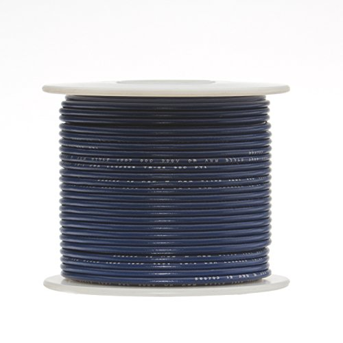 100 feet Length Blue 600 Volts 0.0403 Diameter Remington Industries-Wire PTFE Remington Industries 18PTFESTRBLU100 18 AWG Gauge Stranded Hook Up Wire 0.0403 Diameter