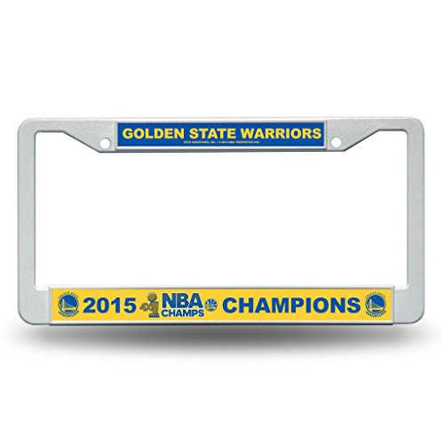 Rico Golden State Warriors Official NBA 12 inch x 6 inch 2015 NBA Finals Champions Plastic License Plate Frame by 886998 by Rico