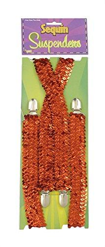 Forum Novelties Men's Novelty Adult Sequin Suspenders, Red, One Size -