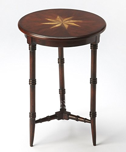 Kensington Row Furniture Collection Tables - Bradford Manor Inlaid Side Table - Plantation Cherry Finish (Collection Bradford Furniture)