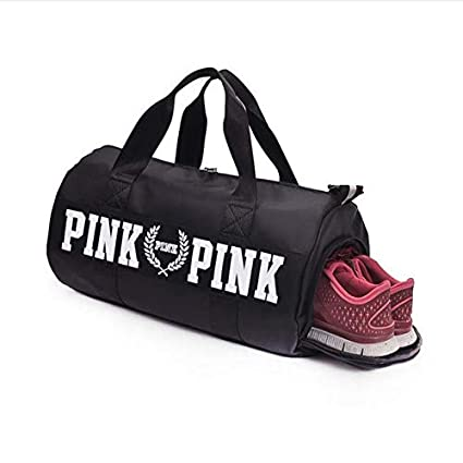 f072d6e0732b AREO Sport Bags for Men Women Luxury Handbags Pink Letter Large Capacity  Travel Duffle Striped Waterproof Beach Bag on Shoulder for Outdoor  Business  ...