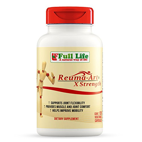 Caps 120 Vegetarian Capsules (Full Life Reuma-Art X Strength Joint Mobility & Flexibility, 120 Caps)