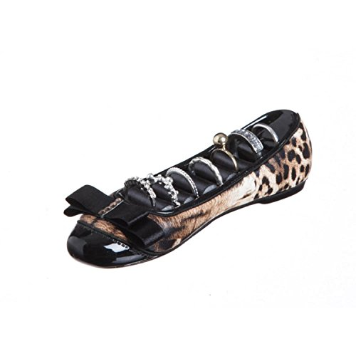 "Cypress Home 6"" Leopard Print Ballet-Flat Shoe Shaped Rin..."