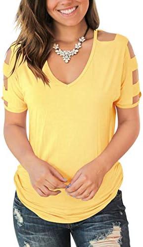 Jescakoo Womens Sleeve Shoulder Shirts