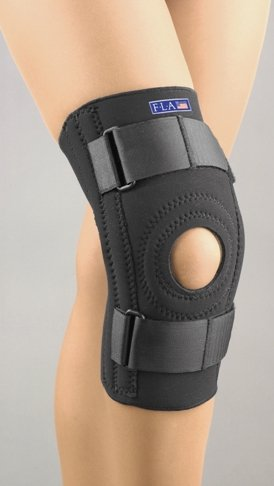 Sammons Preston Safe-T-Sport Neoprene Patella Stabilizer With Removable Horseshoe, XXX-Large, Black - 1 Each,