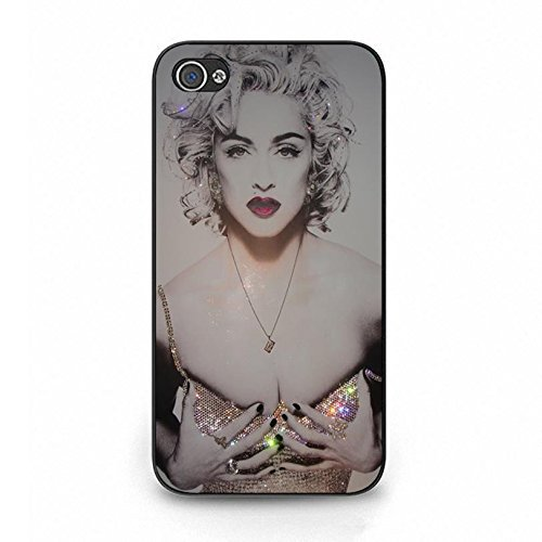 Case Shell Hot Bling Diamond Dressed Super Singer Madonna Ciccone Phone Case Cover for Iphone 4 4s Madonna New Stylish