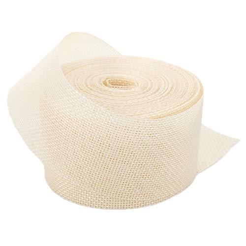 Ribbon Jute Ivory (Ivory Linenette Jute Burlap Ribbon Roll 2
