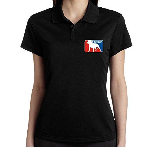 Teeburon Staffordshire Bull Terrier Sports Logo Polo Donna