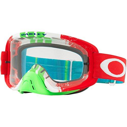 Oakley OO7068-29 O-Frame 2.0 MX Pinned Race Green - anteojos de natación unisex para adulto, tamaño mediano, color rojo