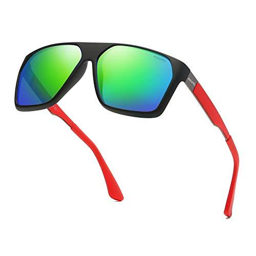 Unisex Polarized Aluminum Sunglasses Vintage Sun Glasses For Men/Women TR90 Unbreakable Frame 6020R (Blue - Classic Aluminum Frame Lead