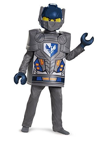 Disguise Clay Deluxe Nexo Knights LEGO Costume, Medium/7-8 (Lego Halloween Costumes)