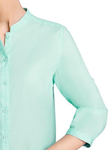 Coton Basique Turquoise en Collection 7301n Blouse Femme oodji XwqF6tW