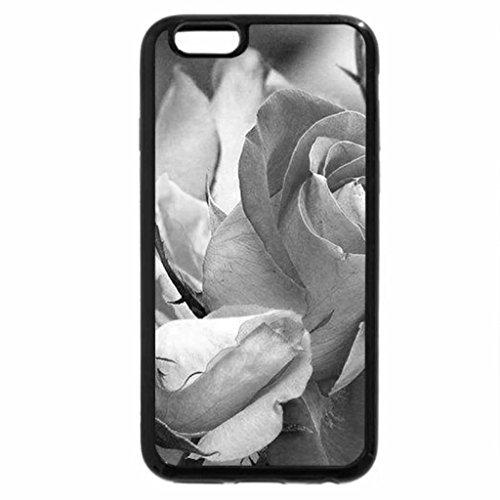 iPhone 6S Case, iPhone 6 Case (Black & White) - Roses