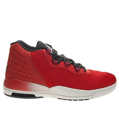 NIKE Mens Jordan Academy, Gym RED/Wolf Grey-Black, 10 (Jordan 8 Black Gym Red Black Wolf Grey)