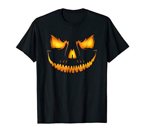 Halloween Costume Shirt - Scary Pumpkin Fire Jack O Lantern ()
