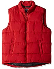 Smith's Workwear Men's Double Insulated Puffer Vest, Dark red