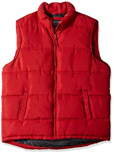 - Smith's Workwear Men's Double Insulated Puffer Vest, Dark red, X-Large