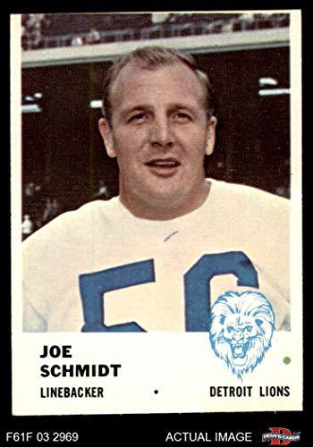 Joe Schmidt Detroit Lions - 1961 Fleer # 86 Joe Schmidt Detroit Lions (Football Card) Dean's Cards 3 - VG Lions