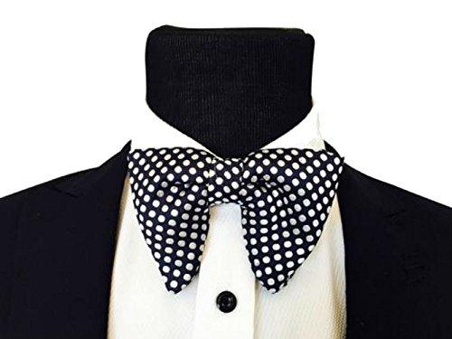 Mens FERUCCI Oversized Bow Tie - Tuxedo Black Silk Bowtie with White Polka Dot big bow tie (one - Oversized Bow Tie