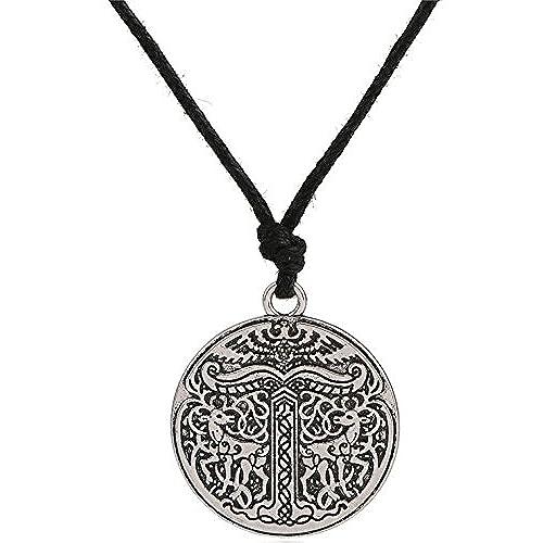 fac0e6625fbc Nórdico Viking animales collar doble cara colgante joyas para hombre Mujer  80% OFF