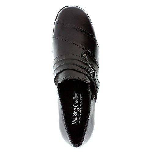 Wandelwieg Womens Kit Wedge Schoen Zwart Zacht Antando