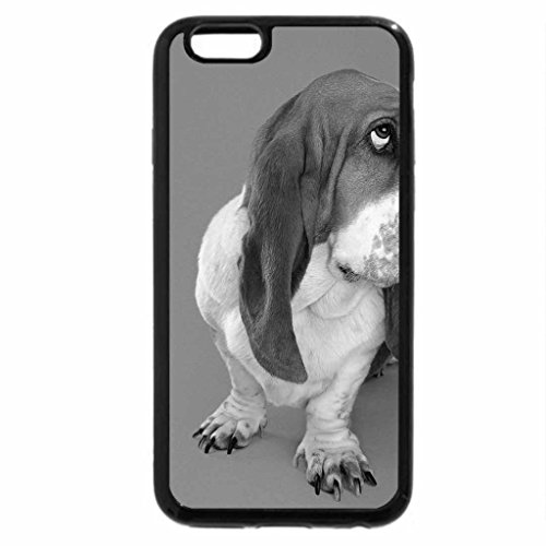 iPhone 6S Case, iPhone 6 Case (Black & White) - cuddly dog look