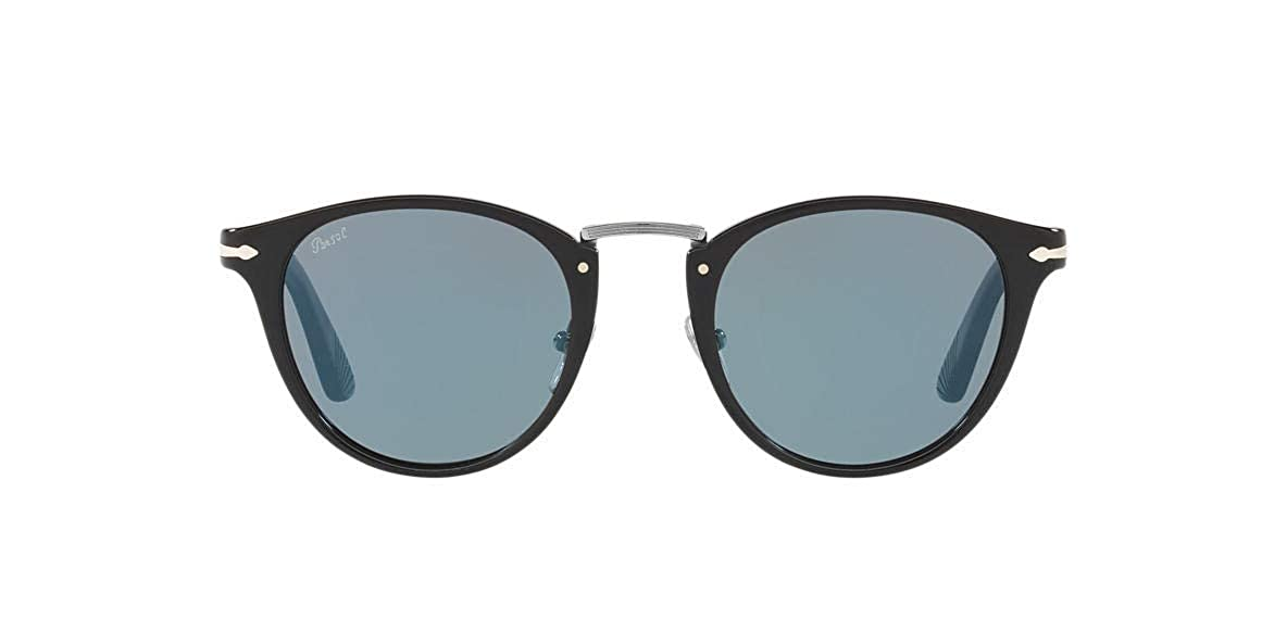 Amazon.com: Persol PO3108S - 95/56 Sunglasses Black w/ Light ...