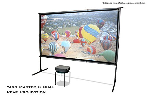 Elite Screens Yardmaster 2 Dual, 120-inch 16:9, Front / Rear 4K Ultra HD Ready Indoor / Outdoor Projector Screen - Portable Screen Front Projection Fold