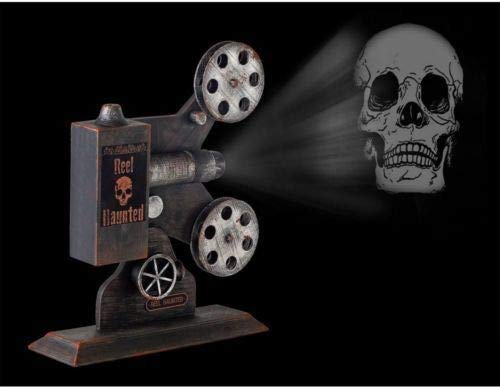 13 Inch Haunted Movie Theater Projector with LED Illuminated Projections - Spooky  Halloween Sounds ()