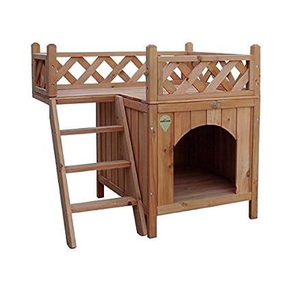 Casa para perro o gatos Nobleza estructura de madera a dos alturas