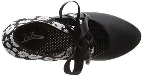 WoMen Shoe Enchanting Black Toe Heels Closed Ribbon Browns Multi Tie Black Joe wqXOB