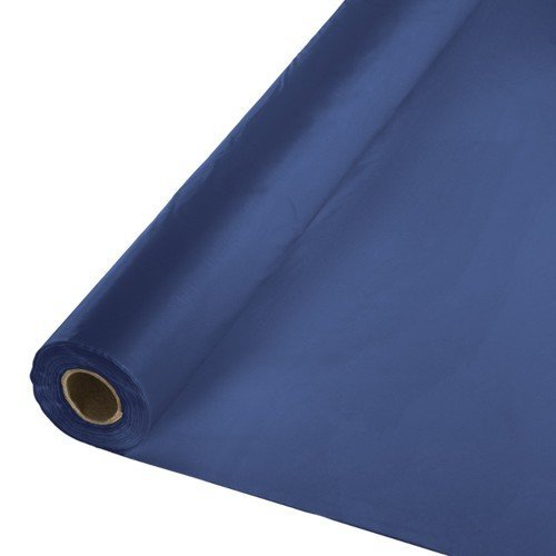 Creative Converting 783278 Plastic Table Cover Banquet Roll, 40'' x 250', Navy Blue by Creative Converting