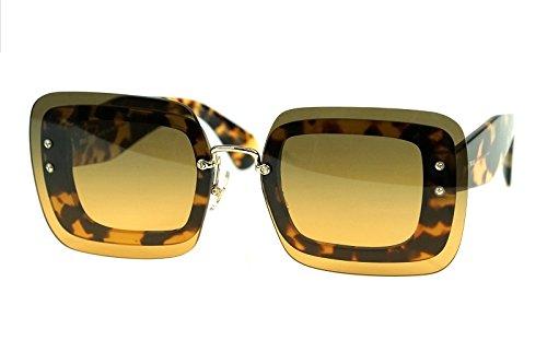 Miu Miu 0MU02RS 7S00A3 67, Gafas de Sol para Mujer, Marrón ...