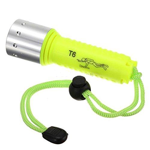 TOMTOP LED Submarine Light Diving Flashlight Underwater Torch Waterproof CREE Q5 Lamp akezone
