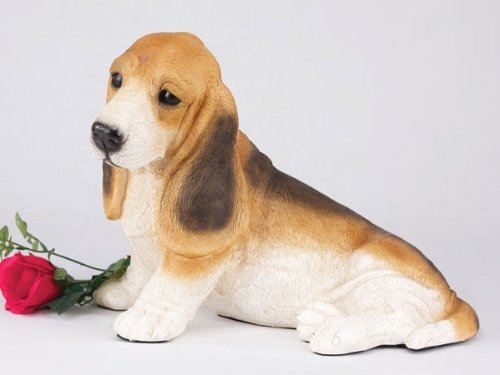 Ever My Pet Companion Basset Hound Dog Pet Urn Tricolor