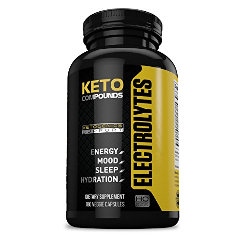Keto Diet Electrolyte Supplement Tablets: Improve Energy, Mood & Recovery Time During Ketogenic Weight Loss Diets – Supplements Contain Potassium, Electrolytes, Calcium, Sodium & Magnesium – 180 Pills