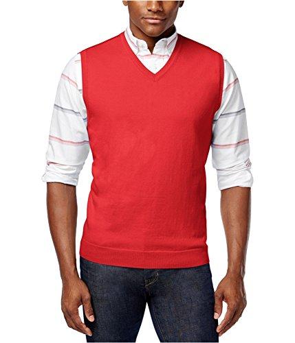 Club Room Mens Knit V-Neck Sweater Vest lipstickcoral L