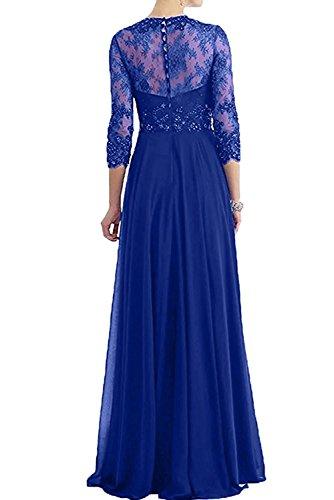4 Braut Abendkleider mia A Fuchsia Promkleider Abschlussballkleider Dunkel Brautmutterkleider Festlichkleider Blau Linie Spitze 3 La Langarm 5dCX0Fw0qx