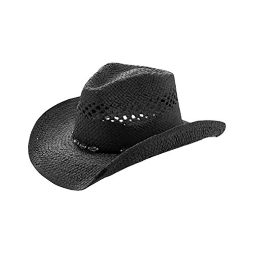 TOP HEADWEAR Outback Toyo Cowboy Hat - Black