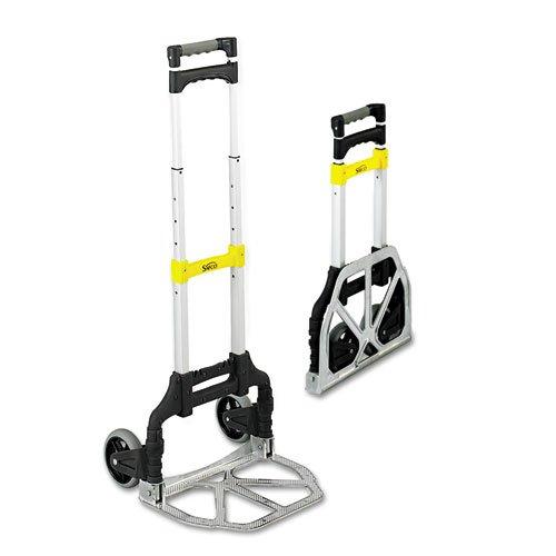 Safco - Stow & Go Cart, 110lb Capacity, 15 1/4w x 16d x 39h, Aluminum 4049 (DMi EA