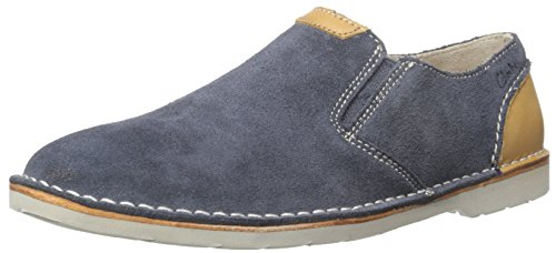 Easy Men's Loafer Suede Slip Blue On Hinton CLARKS SUqWwnan
